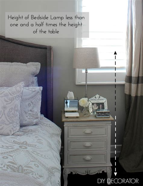 bedside table l height what is the right bedside l height diy decorator