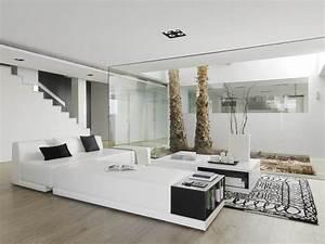 decoracion de interiores casas minimalistas espectaculares With meubles de salon roche bobois 2 20 modern contemporary black and white living rooms home