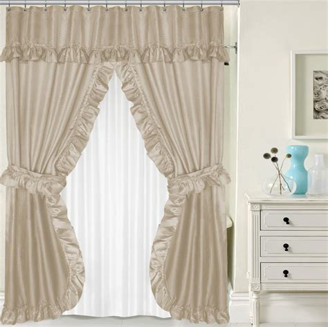 Curtain Awesome Double Swag Shower Curtain Cool Double