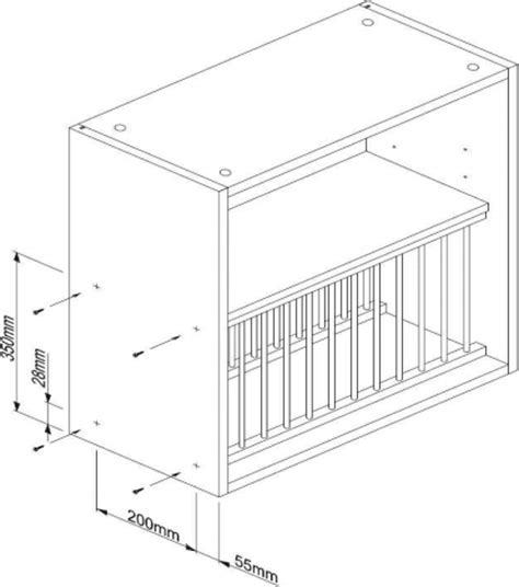 Plate Rack (H)342mm Assembly Instructions   Solid Wood