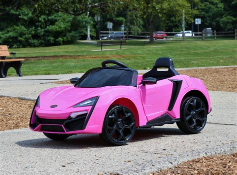 First Drive Lykan Hypersport Style Pink 12v Kids Cars ...