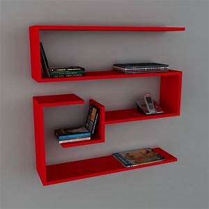 Etagere Murale Rouge : wooden art tag re murale rouge brandalley ~ Melissatoandfro.com Idées de Décoration