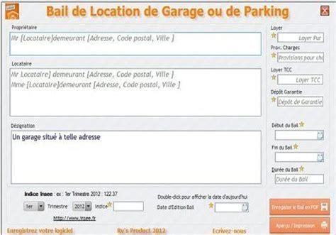 contrat de location parking modèle modele gratuit bail location parking
