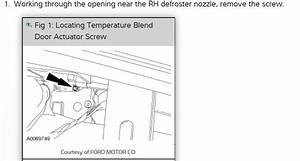 Wiring Diagram For Blend Door Acturator  Blend Door Not