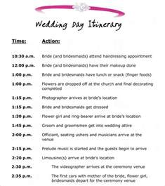 wedding schedule of events 10 event itinerary template collections