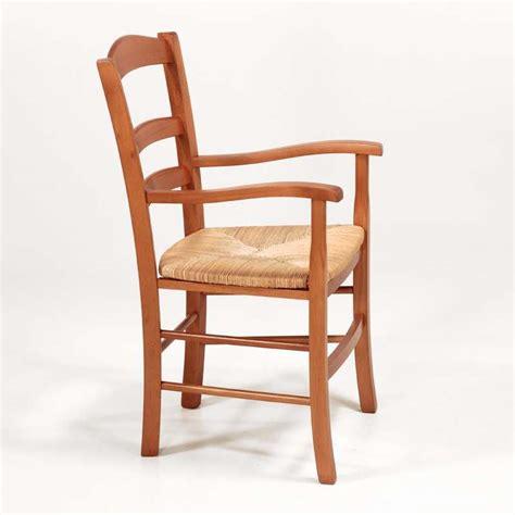 chaise en bois et paille fauteuil en bois rustique et paille brocéliande 4 pieds