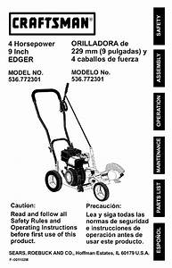 Craftsman Edger 536 772301 User Guide