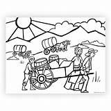 Coloring Pioneer Pages Printable West Printables sketch template