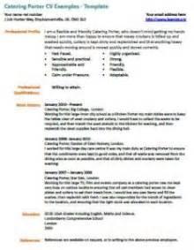 catering porter cv exles learnist org