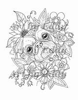 Pug Coloring Tattoo Pugs Colouring Adult Mandala Sunflower Sheets Single Printable Dog Animal Mandalas Huebucket Malvorlagen Ninos Pintar Animales Books sketch template