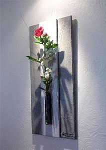 Tableau Végétal Mural : tableau floral mural relief gris vendu d corations ~ Premium-room.com Idées de Décoration