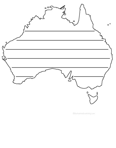 australia shape poem printable worksheet