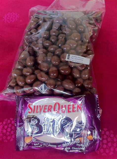 jual silverqueen bites almond gr  lapak anis rokhima