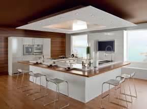 cuisine ouverte avec ilot table cuisine avec îlot central nos inspirations travaux com
