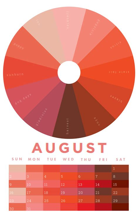 february colors the colors of august 2015 chromophilia color wheel