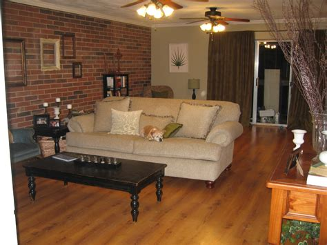 living room small and wooden staircases brick wall design livingroom with brick wall to kitchen all custom