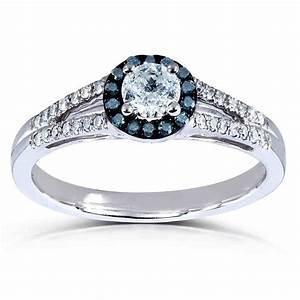 blue diamond halo engagement ring wedding and bridal With wedding rings blue diamond