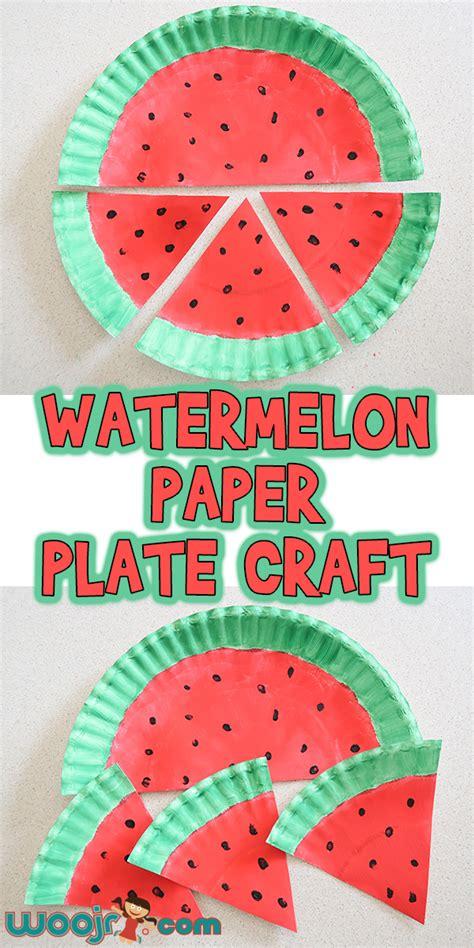 watermelon paper plate craft woo jr kids activities