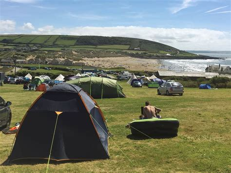 Camping In Croyde At Freshwell Camping, North Devon
