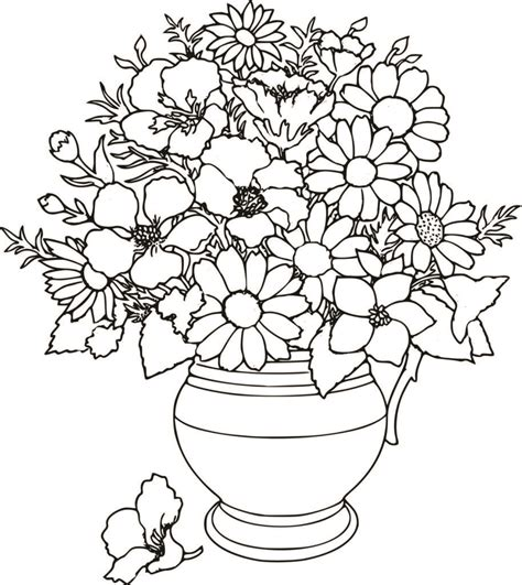 Coloring Pages: Flower Coloring Pages Uniquecoloringpages