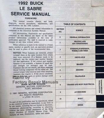 free download parts manuals 2004 buick lesabre interior lighting 1992 buick lesabre factory service manual original shop repair factory repair manuals