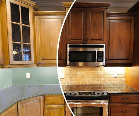 change color of kitchen cabinets process n hance wood refinishing franchise 8126