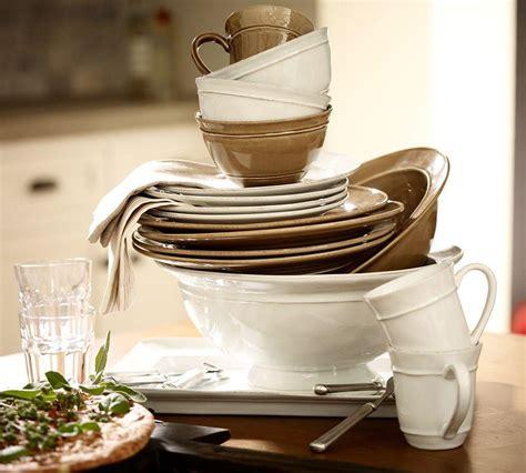 dinnerware cambria stoneware pottery barn stone dishes portugal casual natural