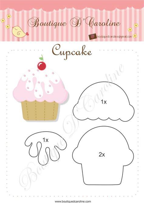 moldes  hacer cupcakes de fieltro ideas de manualidades
