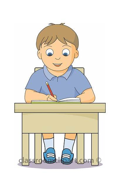 Working Clipart Desk Student Boy Students Desks