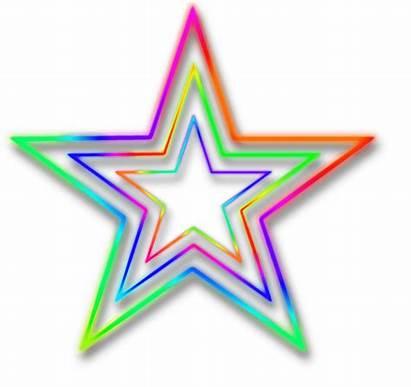 Neon Clipart Transparent Background Stars Star Imagenes