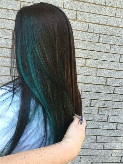 Best 25 Blue Hair Highlights Ideas On Pinterest