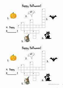 Halloween Crossword Worksheet