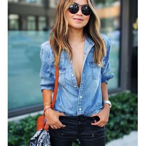 bureau discount mode femme chemise tournez à col manche l bleu