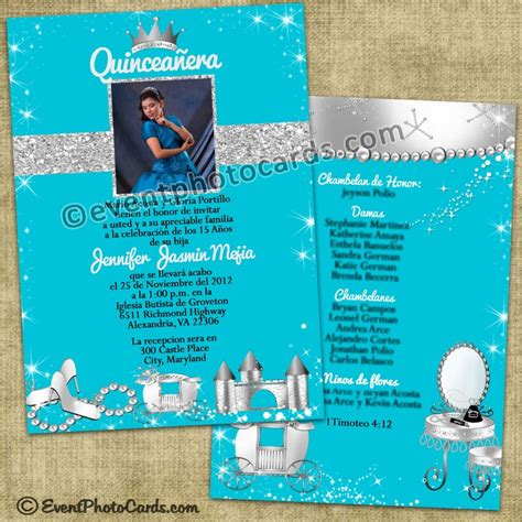 coral wedding programs turquoise princess quinceanera invitations