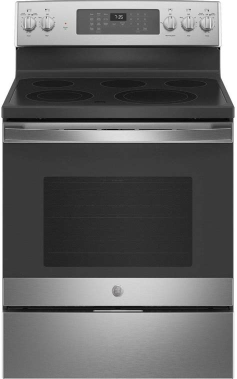 ge   standing electric convection range jb