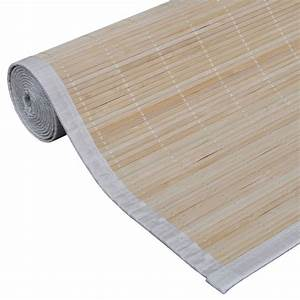 Tapis Bambou 200x300 : acheter tapis en bambou naturel latte rectangulaire 200 x 300 cm pas cher ~ Teatrodelosmanantiales.com Idées de Décoration