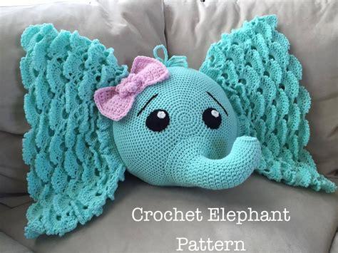 elephant rug crochet elephant pillow with pattern