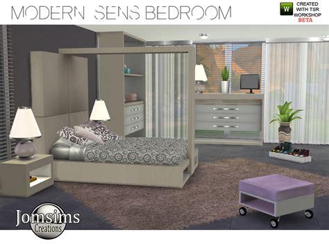 sims  custom content modern sens bedroom