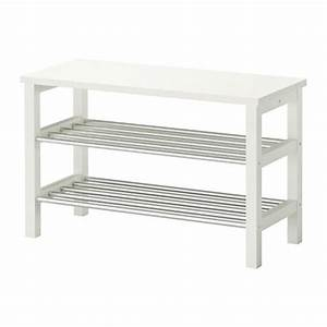 TJUSIG Banc Avec Rangement Chaussures Blanc 81x50 Cm IKEA