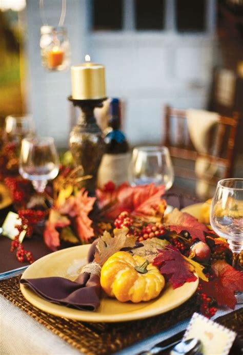 decorating table for thanksgiving dinner 20 fantastic thanksgiving decoration ideas for an outdoor party