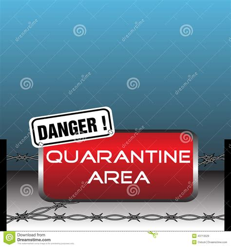 quarantine area rubber stamp royalty  stock