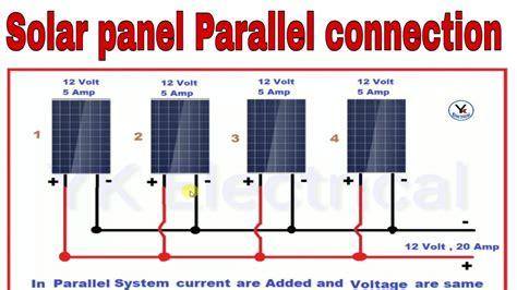 solar panel parallel connection diagram circuit diagram images