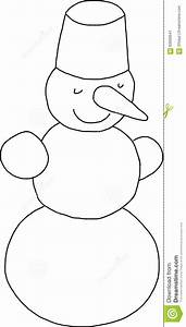 Black And White Snowman Stock Illustration - Image: 63000641