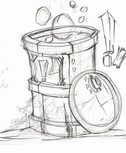Barrel Toxic Drawing Sketch Getdrawings