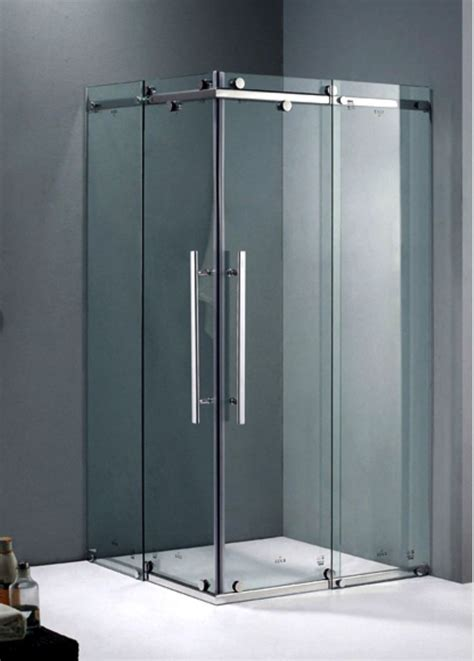 shower screen frameless sliding corner shower screen