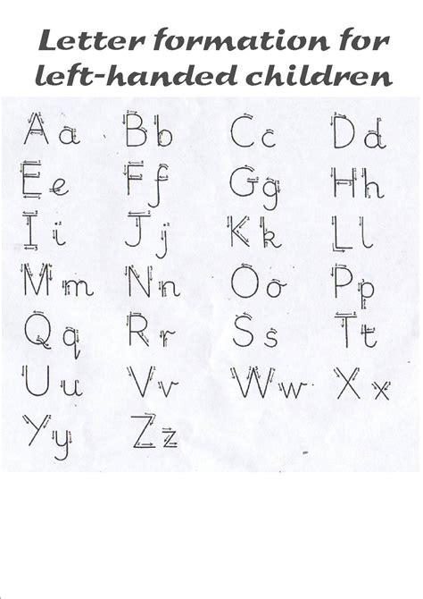 letter formation  left han ded children kids school
