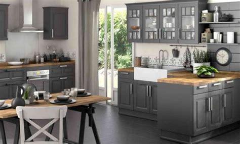 exemple de cuisine repeinte cuisine peinte en gris meuble de cuisine peint en gris
