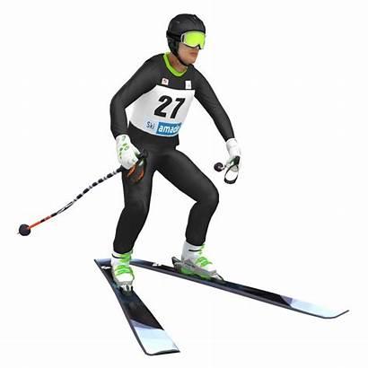 3d Skier Rigged Ski Turbosquid Models Hq