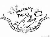 Taco Coloring Roof Printable Pages sketch template