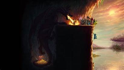 Dragon Wings Epic Dragons Cave Treasure Fire